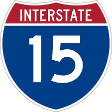 Interstate 15 In Utah Wikipedia I15 Interstate 15 Road Maps Traffic News Interstate 15 In Utah
