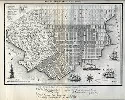 Map Of San Francisco by San Francisco History San Francisco 1852 Map