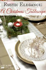 centerpiece rustic christmas tablescapes ideas silver ornaments
