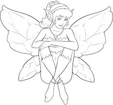 free printable sheet of vidia fairy to color good fairies