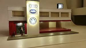 audi dealership design iights on interior and signage vw audi dealership ho scale youtube