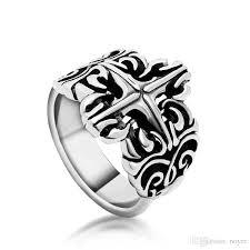 cool rings for men 2018 cool cross rings for men stainless steel 3d cross