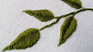 Fish Bone Stitch Embroidery Tutorials Embroidery Design Fish Bone Stitch Tutorials Handiworks