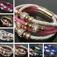 leather bracelet woman images Mens braided leather bracelet men 39 s man fashion charm bracelets jpg