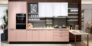 what color are modern kitchen cabinets morandi pink modern kitchen design oppein the largest