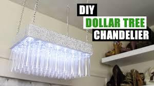 diy dollar tree bling chandelier dollar store diy glam chandelier