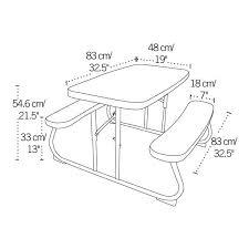 Lifetime Kids Table Kids Folding Picnic Table Almond 280094