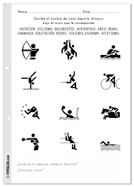 actividades olimpiadas niños pipo escribir olimpiadas