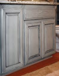 Glazed Kitchen Cabinet Doors Paint Glazed Kitchen Cabinets With White And Brown Decor Trends