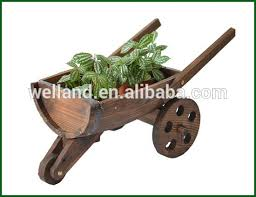 rustic wooden wagon planters large barrel plant container garden