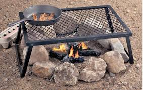 Firepit Grate Outdoor Pit With Cooking Grate With Wooden Burner Plus