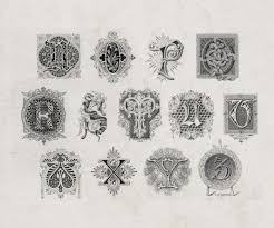 inspiring examples of decorative vintage lettering drop cap