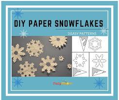 diy make easy pretty paper snowflakes majors