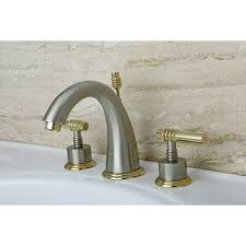 Polished Brass Bathtub Faucets Milano Widespread Satin Nickel Polished Brass Bathroom Faucet