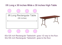 8 ft table cloth with logo what size tablecloth for 8ft rectangular table tableclothsforless com