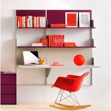etagere sur bureau bureau en aluminium contemporain avec étagère pour enfant