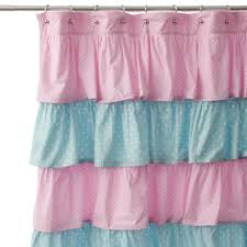Ruffled Pink Curtains Pink Ruffle Shower Curtain Affordable Modern Home Decor Pink