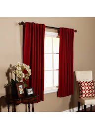 red back tab thermal insulated blackout curtain 63