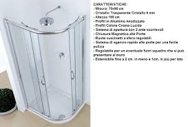 doccia facile piatto doccia mineral marmo stondato 70x90 cm