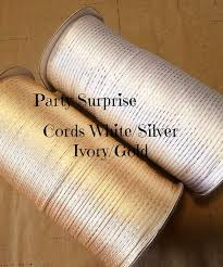 metallic gift wrap 200 yds cord silver and gold metallic gift wrap tags crafts strong