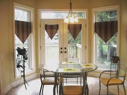 dining room windows with triangle valances creating stylish