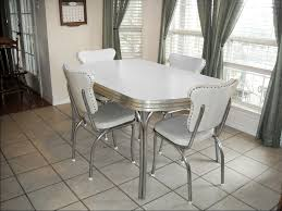 Wood Dining Room Table Sets Vintage Retro 1950 U0027s White Kitchen Or Dining Room Table With 4