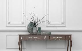 vintage style console table vintage style console table in a classic room stock illustration