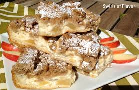 apple crumb pie cheesecake bars swirls of flavor