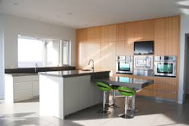 Melamine Kitchen Cabinets Kitchen Fancy Dry Caesar Stone Kitchen Decoration Using Oak Wood