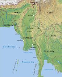 Geographical Map Maps Of Myanmar Burma Bizbilla Com
