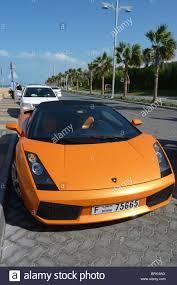 lamborghini car dubai lamborghini car parked outside atlantis hotel dubai stock photo