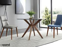 Wooden Legs For Table The Branch Round Clear Glass Table With Wood Legs