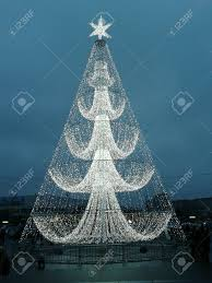tree made of lights moscow stock photo picture and