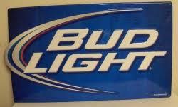 Light Iconic Beer Bar Tin Tacker Sign