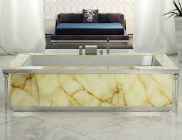 visionnaire portorose high end italian bathtub in honey onyx marble