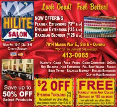 hilite salon olympia washington hair salon barber shop