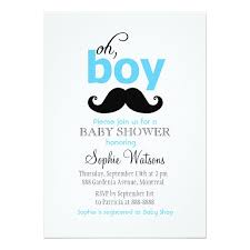 mustache baby shower blue it s a boy mustache baby shower invitations zazzle
