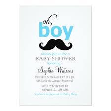 mustache baby shower blue it s a boy mustache baby shower invitations zazzle