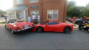 rare ferrari is this the most expensive u0027fender bender u0027 ever woman reverses