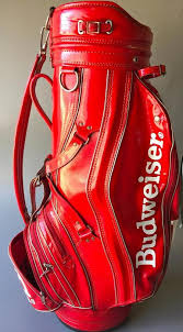 Budweiser Beer Logo Golf Bag W Raincover Padded Straps Faux