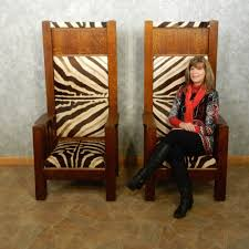 african zebra skin bishop chairs for sale 15028 the taxidermy store