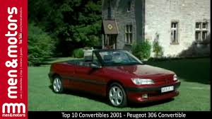 peugeot 306 convertible top 10 convertibles 2001 peugeot 306 convertible youtube