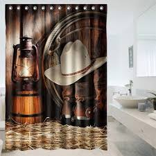 Custom Bathroom Shower Curtains 2018 Wholesale Sale Custom American West Cowboy Bathroom