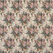 green and pink floral bouquet tapestry upholstery fabric