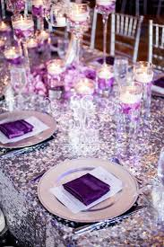 silver and purple wedding table decorations decorating of