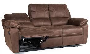 canap cuir relax 3 places canapé de relaxation 3 places manuel cuir marron avec surpiqûre duck