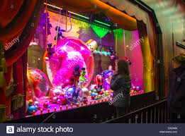 Christmas Decorations For Shop Front by Paris France Children Enjoying Shop Front Window Shopping