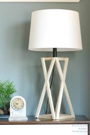 Make Wood Desk Lamp by Pneumatic Addict Diy Tapered X Lamp
