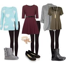 how to wear leggings polyvore