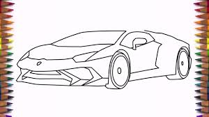 car lamborghini drawing how to draw a car lamborghini aventador lp 750 4 step by step easy